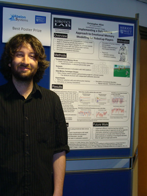 Christopher Allan of Heriot-Watt University and his project poster